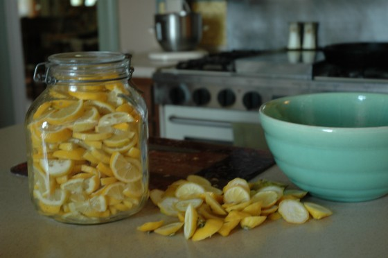 15 Sliced lemons in jar