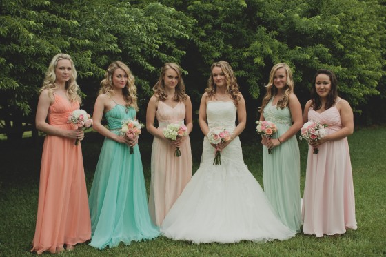 Rachael and her bridesmaids (sisters and and best friend)