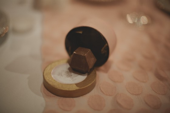 The wedding favors-Homemade jewel shaped truffles-YUM! Recipe and directions to come