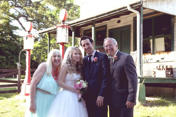 Alex's mom and dad with the newly weds!