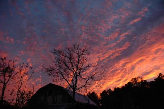 Glory of the Lord over our Barn