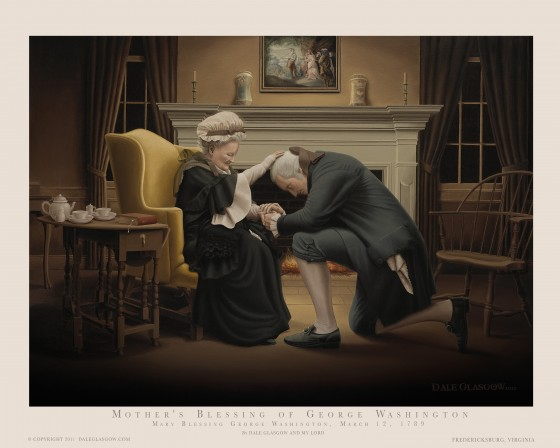 Mothers Blessing of George Washington 8x10