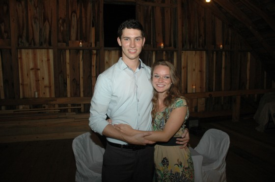 Jonathan proposed to Rachael in the Glasgow Barn, where they first fell in Love