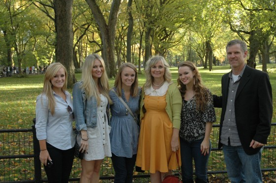 Ellie, Jennifer, Hannah, Sharon, Rachael and Dale in Central Park