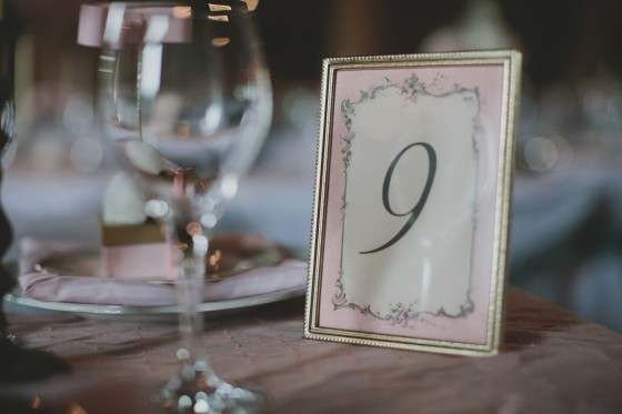 Table numbers- the frames are from thrift stores. No more than a dollar a piece- Rachael designed and printed the numbers inside the frrames
