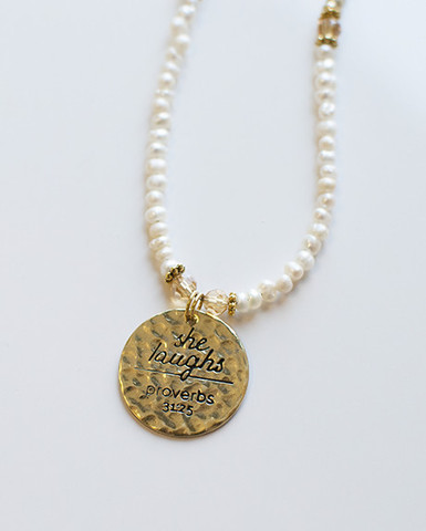 Use your gift certificate to get this necklace or books!